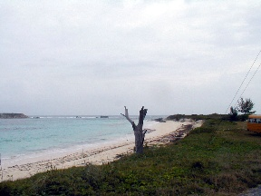 Land / Lot voor Verkoop een t Acreage with beach and road frontage San Salvador, Bahama Eilanden