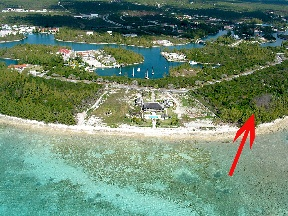Terre / Lot de terrain pour l Vente à Large development beachfront tract in Bell Channel Bahamas