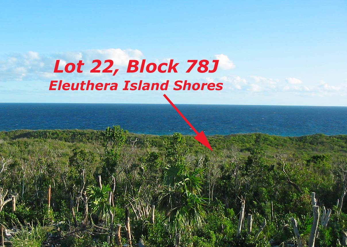 Lush, tropical ocean view lot Eleuthera, Bahamas