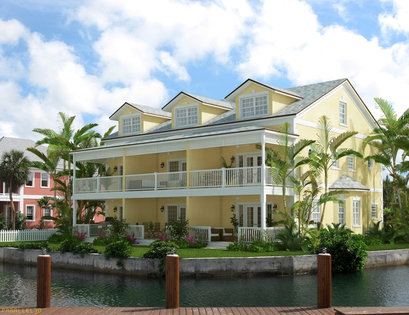 Co-op / Condominio por un Alquiler en Superb end unit townhouse with 40ft dock and private generator Sandyport, Cable Beach, Nueva Providencia / Nassau Bahamas