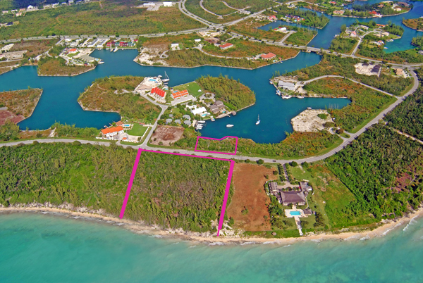Terreno / Lote por un Venta en Outstanding Ocean to Canal Land in Prime Location Ready for Development with NO PROPERTY TAXES! Bahamas
