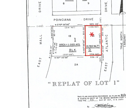 Land for Sale at Commercial lot in Downtown area Grand Bahama, Bahamas