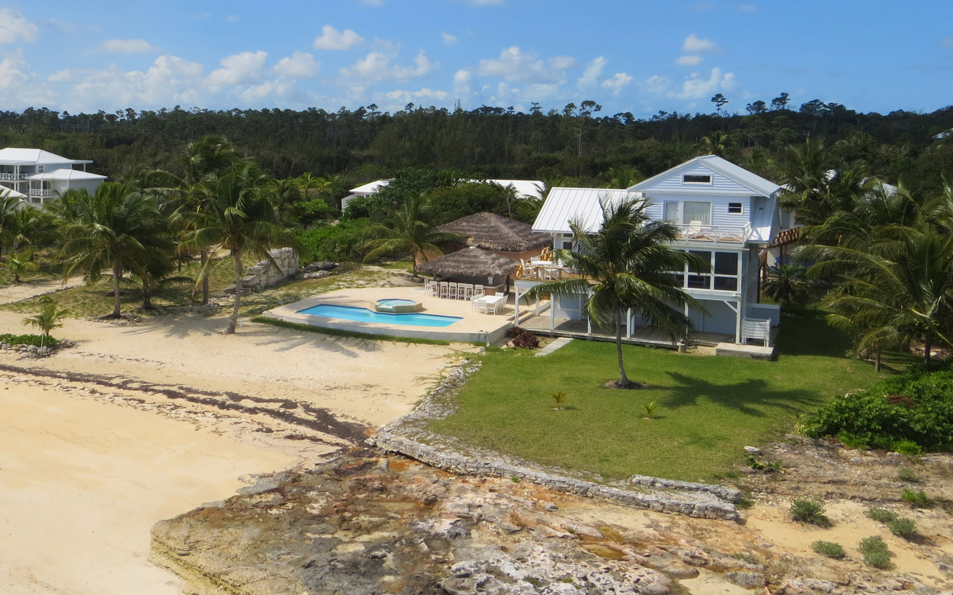 Single Family Home for Sale at Palmetto Beach Estate, Abaco Island, Bahamas. Turnkey Estate Turtle Rocks, Abaco, Bahamas