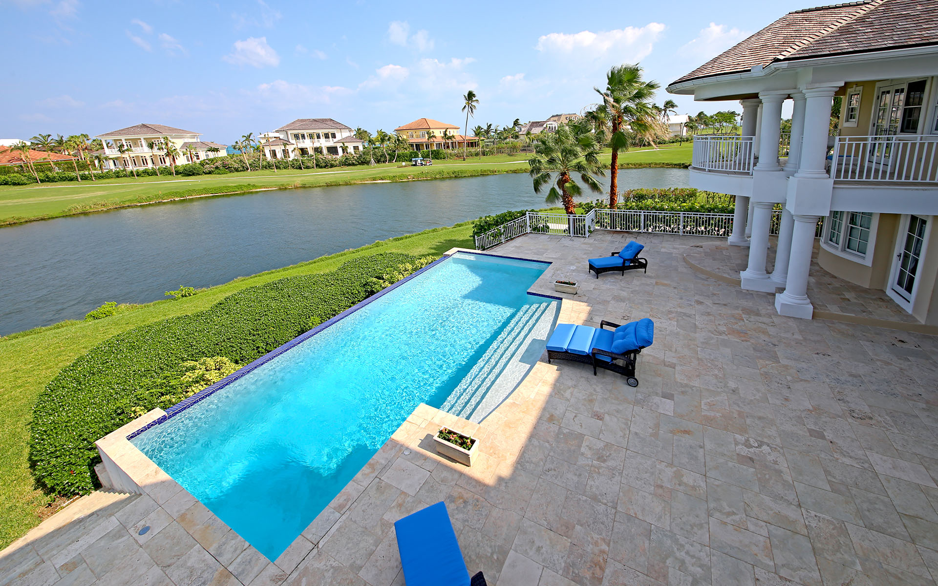 Single Family Home for Sale at Grand Lakefront Estate, Ocean Club Estates Ocean Club Estates, Paradise Island, Nassau And Paradise Island Bahamas