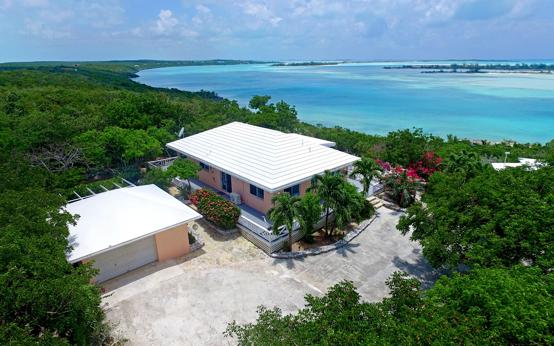 Single Family Home for Sale at Madeira - Charming Home and Cottage Overlooking Moriah Harbour Exumas, Bahamas