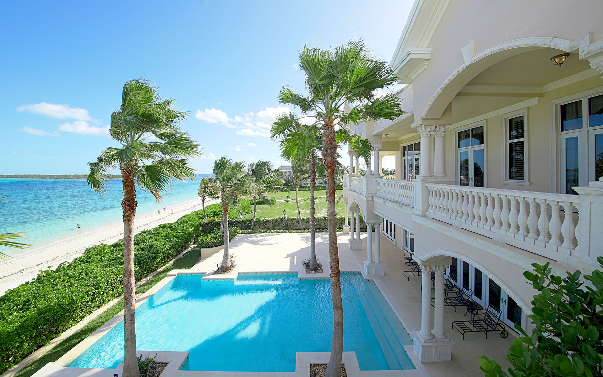 Single Family Home for Sale at Beachfront Mansion in Ocean Club Estates, Paradise Island Ocean Club Estates, Paradise Island, Nassau And Paradise Island Bahamas
