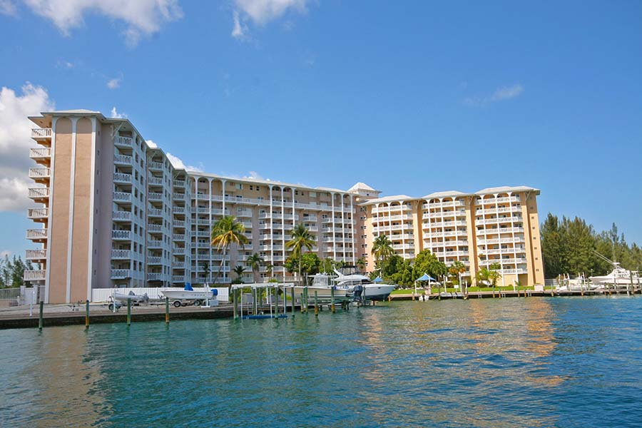 Co-op / Condo for Rent at Cheerful waterfront Studio Condo In Harbour House Towers Bell Channel, Lucaya, Grand Bahama Bahamas