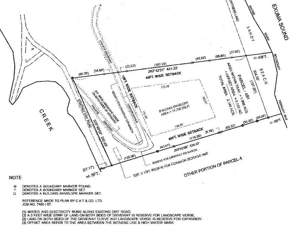 Additional photo for property listing at Ocean Ridge Beachfront Lot Exumas, Bahamas